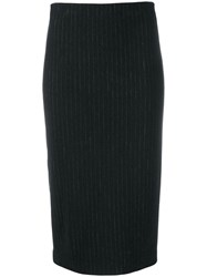 Kiltie Fitted Pencil Skirt Grey