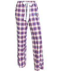 Concepts Sport College Women's New York Rangers Forge Flannel Pants Royalblue Red