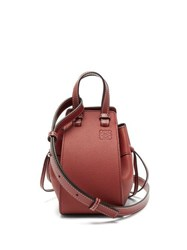 Loewe Hammock Mini Leather Cross Body Bag Dark Red