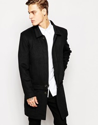 Standard Issue Exclusive Wool Mac With Removable Hem Piece Black