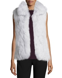 Theory Hanalee L. Knitted Fox Fur Vest