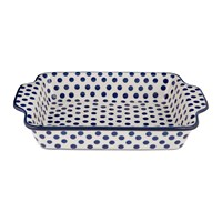 Bunzlau Castle Baking Dish Blue Dots Small