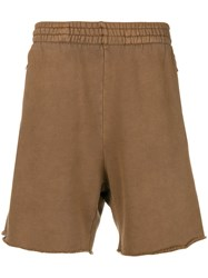 Yeezy High Waisted Track Shorts Brown