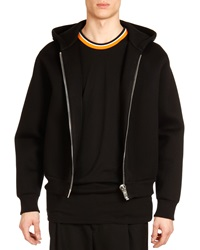 Givenchy Neoprene Big Zipper Hoodie Black