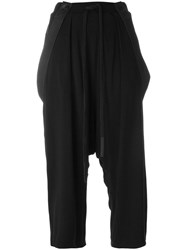 Lost And Found Ria Dunn Drop Crotch Cropped Trousers Black
