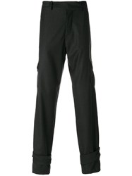 J.W.Anderson Trousers With Ankle Straps Cotton Virgin Wool Grey