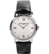 Baume And Mercier M0a10146 Classima Stainless Steel And Diamond Watch White