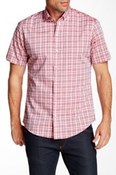Zachary Prell Veith Short Sleeve Trim Fit Shirt Pink