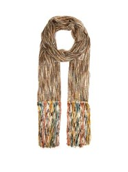 Missoni Open Knit Tasseled Scarf Multi