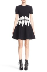 Women's Alexander Mcqueen Intarsia Knit Fit And Flare Dress