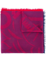 Kenzo Woven Scarf Red
