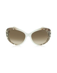 Roberto Cavalli Temoe 727S 27F Transparent Turtledove Brown Snake Print Mauve Sunglasses