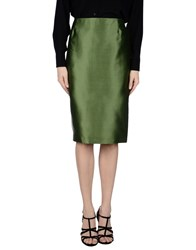 Max Mara Studio Skirts Knee Length Skirts Women Military Green
