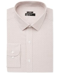 Bar Iii Men's Slim Fit Stretch Easy Care Rust Diamond Windowpane Dress Shirt Only At Macy's