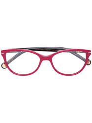Carolina Herrera Cat Eye Glasses Red