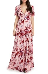 Willow And Clay Floral Burnout Maxi Dress Rose