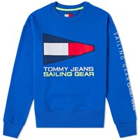 Tommy Jeans 5.0 90S Sailing Logo Crew Sweat Blue