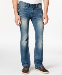 Buffalo David Bitton King X Slim Fit Boot Cut Sandblasted And Vintage Wash Jeans