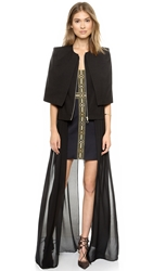Sass And Bide The Heart Business Long Vest Black
