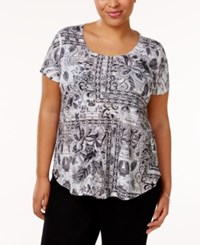 Styleandco. Style Co. Plus Size Printed T Shirt Only At Macy's Garden Terrace