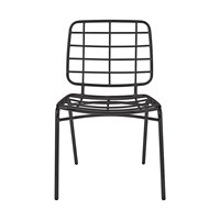 Bloomingville Tall Metal Chair Black