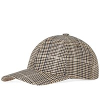 A.P.C. Stan Check Cap Brown