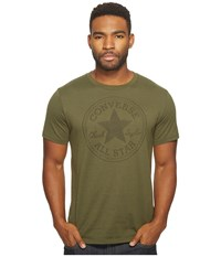 Converse Jacquard Chuck Patch Tee Olive Men's T Shirt