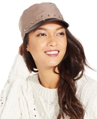 August Hats Military Cap With Studs Taupe