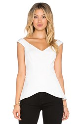 Minty Meets Munt Cold Shoulder Top White