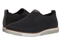 Hush Puppies Expert Mt Slip On Dark Grey Knit Nubuck Slip On Shoes Black