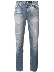 Rta Ripped Stonewashed Skinny Jeans Blue