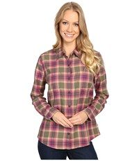 Royal Robbins Cottonwood Plaid Long Sleeve Light Berry Women's Long Sleeve Button Up Purple