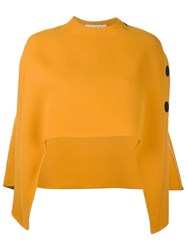 Marni Cut Out Cape Yellow And Orange