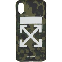 Off White Green And Brown Camo Iphone X Case