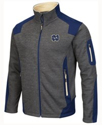 Colosseum Men's Notre Dame Fighting Irish Double Coverage Ii Jacket Charcoal Navy