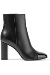Gianvito Rossi Patent And Matte Leather Ankle Boots Black