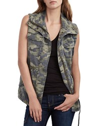 Velvet By Graham And Spencer Distressed Camo Parka Vest
