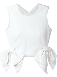 Msgm Double Bow Tank Top White