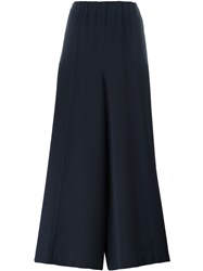 Sofie D'hoore 'Party' Cropped Wide Leg Trousers Blue