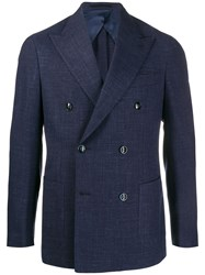 Barba Double Breasted Blazer 60