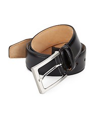 Saks Fifth Avenue Made In Italy Leather Belt Black