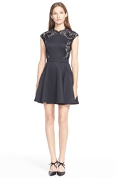 Ted Baker London 'Vivace' Fit And Flare Dress Black