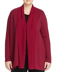 Marina Rinaldi Magda Silk Panel Cardigan Purple