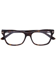 Tom Ford Eyewear Square Frame Glasses Brown