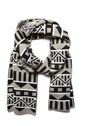 Forever 21 Mixed Geo Pattern Scarf