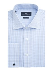 Paul Costelloe Men's Cambridge Check Shirt Blue