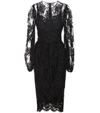 Dolce And Gabbana Tulle Lace Dress Black