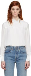 See By Chloe White Tassel Bow Blouse