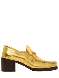 Gucci 55Mm Vegas Metallic Leather Loafers