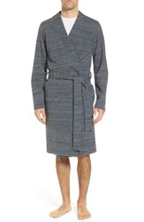 Ugg Kent Cotton Blend Robe Navy Heather